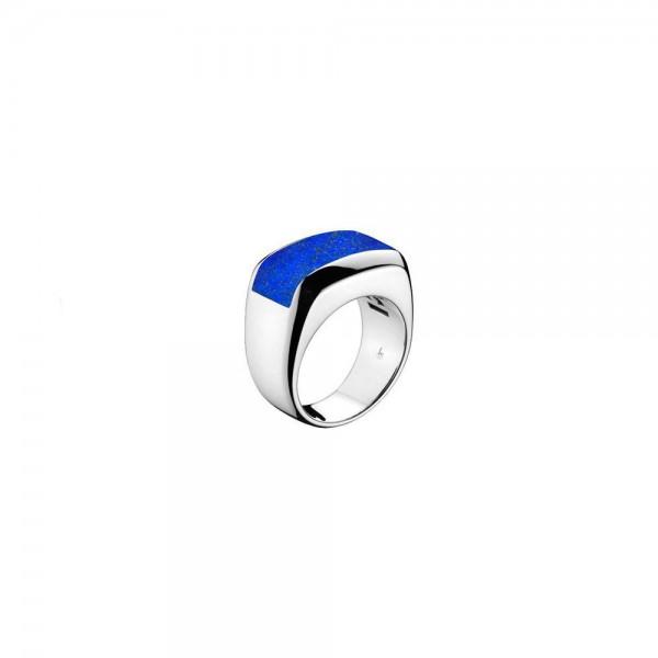 Men's Falco White Gold & Blue Lapis Ring
